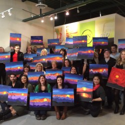 paint and sip session 01.17.15